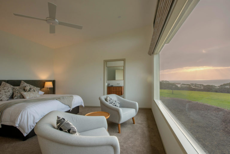 Oceanview Eco Villas, Kangaroo Island Bedroom with View