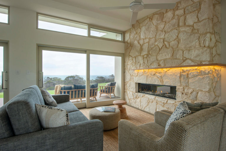 Oceanview Eco Villas, Kangaroo Island Gas Fire